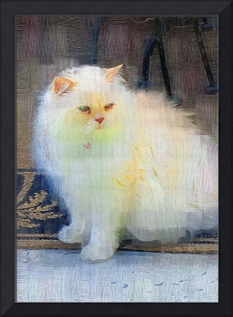 HIMALAYAN CAT OIL PAINTING PHOTO