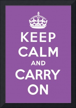 Purple Keep Calm And Carry On 8