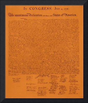 Declaration of Independence aged
