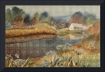Cape Cod landscape with cottage