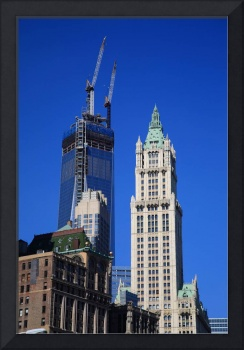 Freedom Tower and Woolworth Building 2013