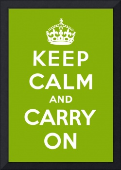 Green Keep Calm And Carry On 2