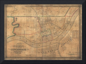 1938 Map of Cincinnati, Ohio