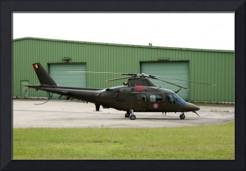 The Agusta A109 helicopter of the Belgian Army