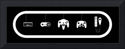 Nintendo Controller Evolution Black & White