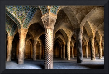 Inside an Iranian mosque