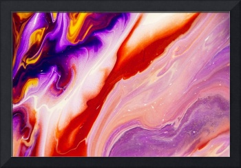 Copper and Purple Flow Streams. Abstract Fluid Acr