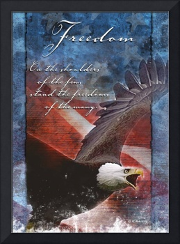 Freedom Troop  Support Greeting Card