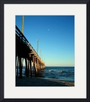 Afternoon Moon Over Rodanthe Pier 0449 by Jacque Alameddine