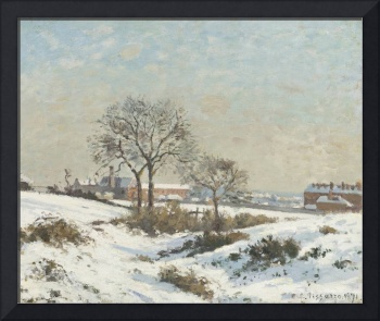 Camille Pissarro - Snowy Landscape at South Norwoo