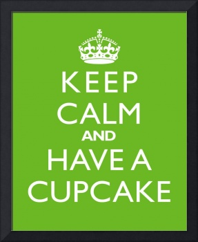 Keep Calm and have a cupcake LIME