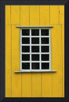 White Window in a Yellow Wall