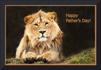 Happy Fathers Day Lion