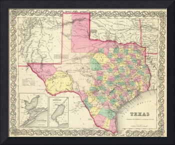 Vintage Map of Texas (1856)