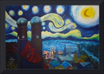 Starry Munich with Oktoberfest - Inspired by Van G