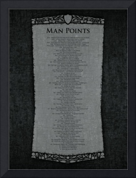 Man Points Poster - Gunmetal