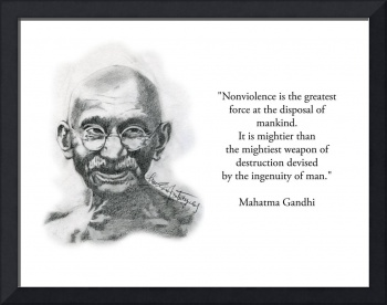 Inspirational Portrait of Mahatma Gandhi