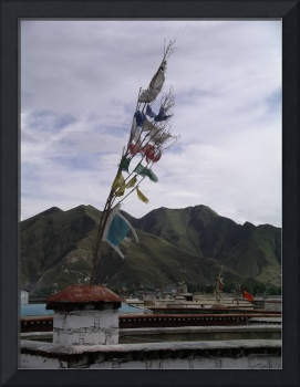 Tibetan Prayer Flags on Lhasa Skyline