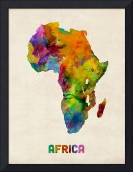 Africa Watercolor Map