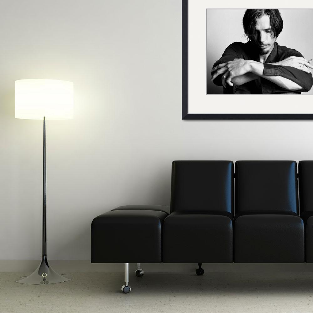 """""""Chris Cornell black and white&quot  by StephenStickler"""