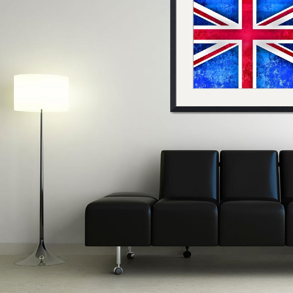 """Bright Grunge Britis Flag&quot  by Prawny"