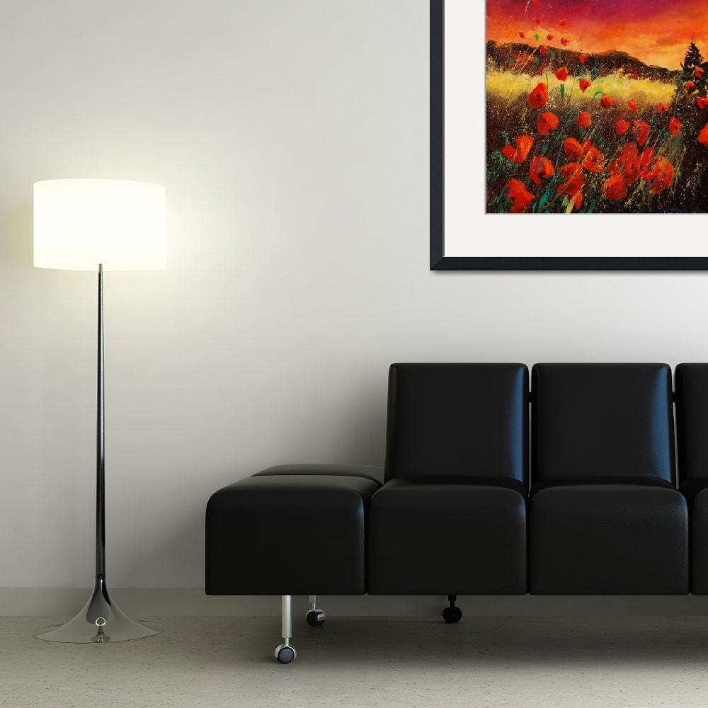 """""""Sunset red poppies 67&quot  by pol"""