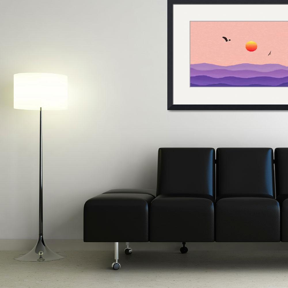 """""""Misty Salmon Sunrise Eagle Hawk Cropped""""  (2013) by TheNorthernTerritory"""