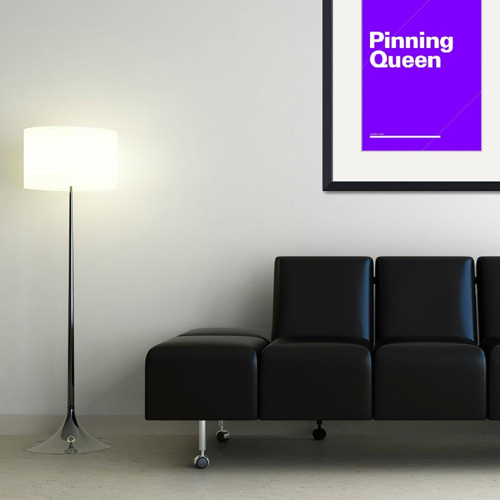 """""""Pinning Queen typographic poster - Purple and Whit&quot  (2012) by kken"""