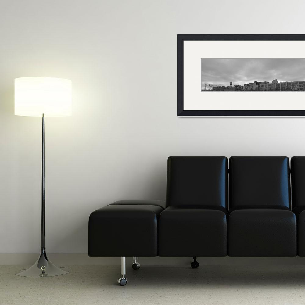 """""""Gates Rubber Company Black and White Panoramic""""  (2009) by FallingSilver"""