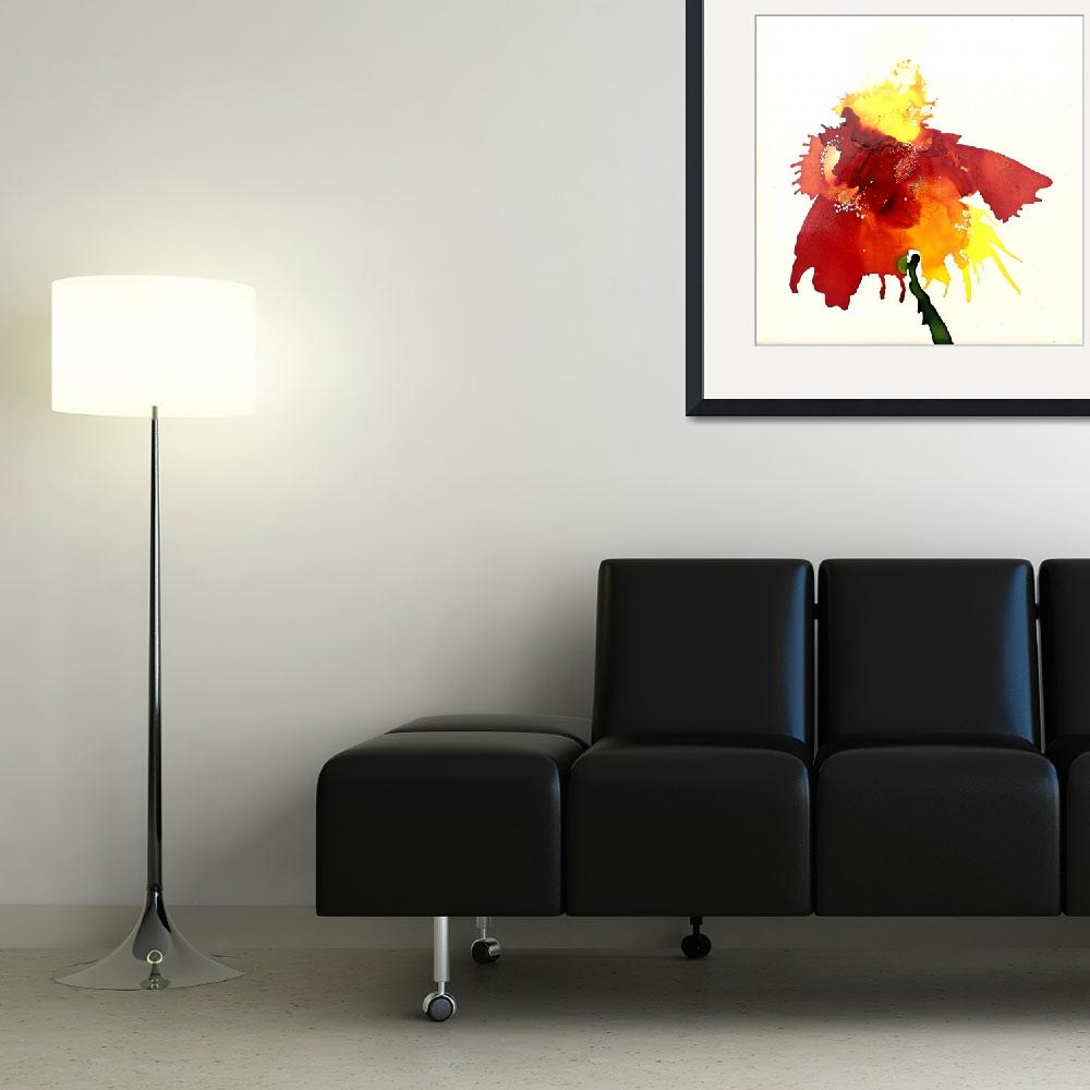 """Abstract Contemporary Floral Art Painting&quot  by AngelaKellyArt"