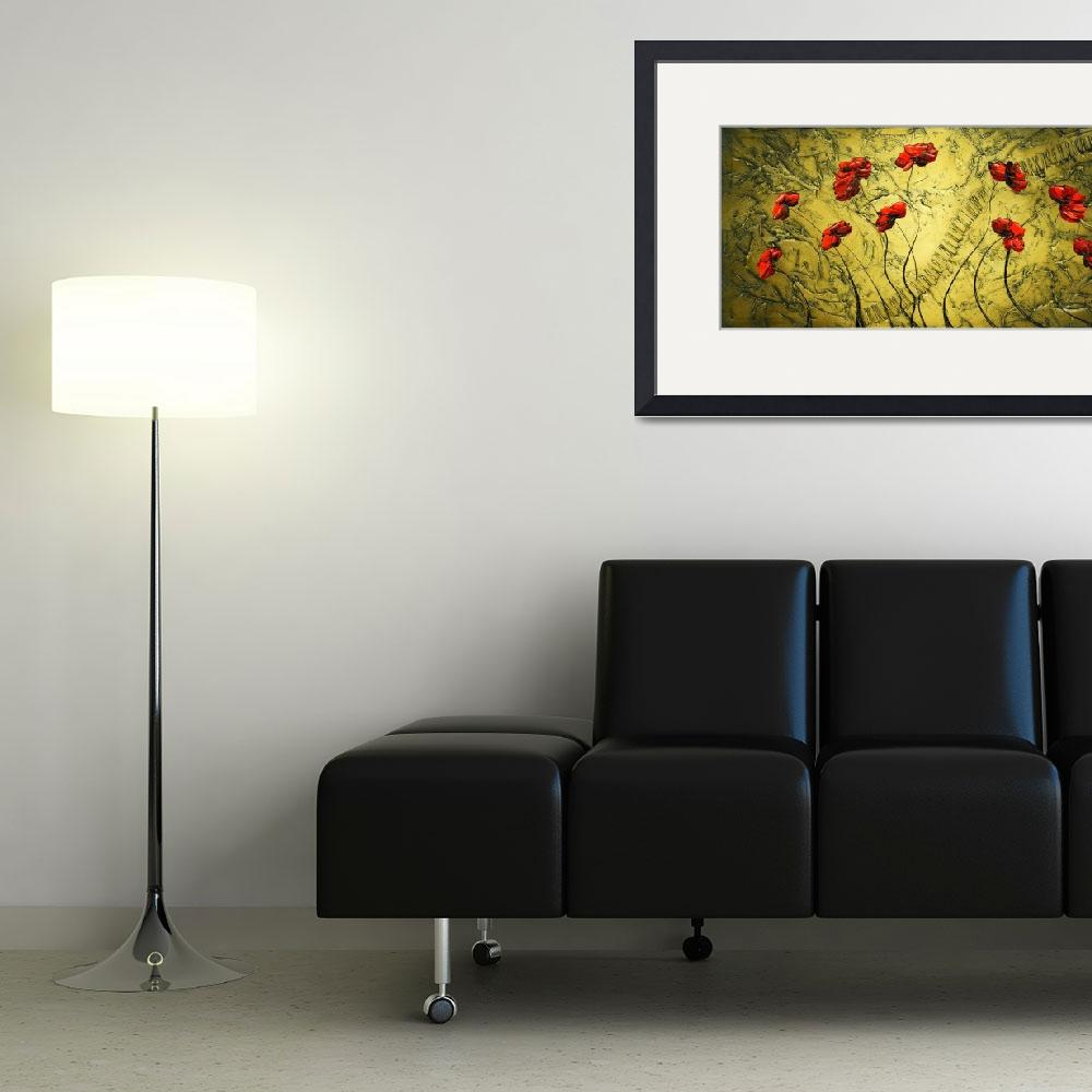 """""""Red Poppies&quot  (2009) by modernhouseart"""
