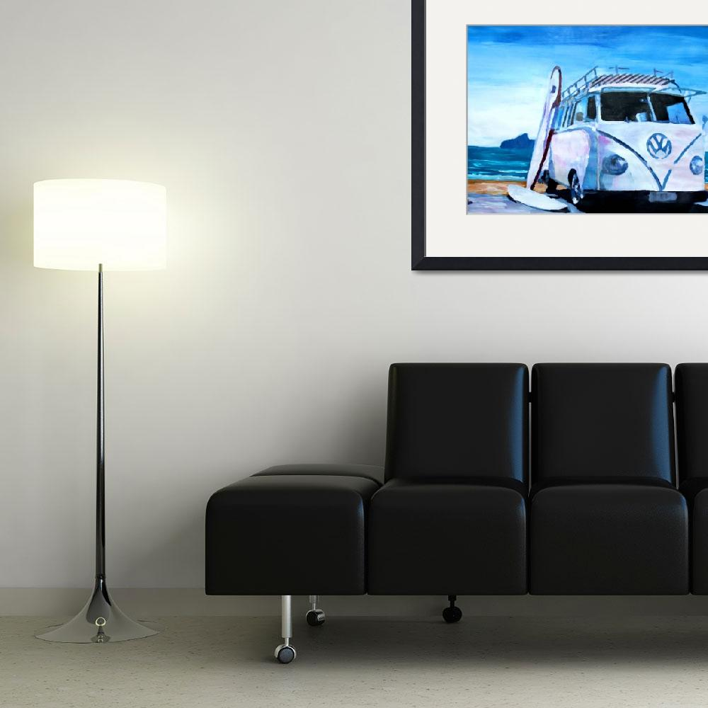 """""""Surf Bus Series - The White Bus&quot  (2012) by arthop77"""