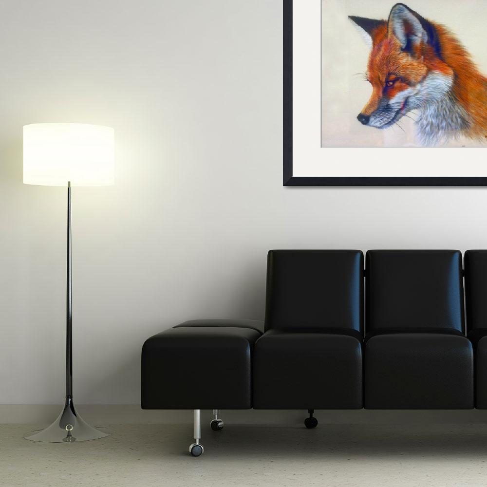 """""""Red Fox Artistic Head Study&quot  by ArtLoversOnline"""