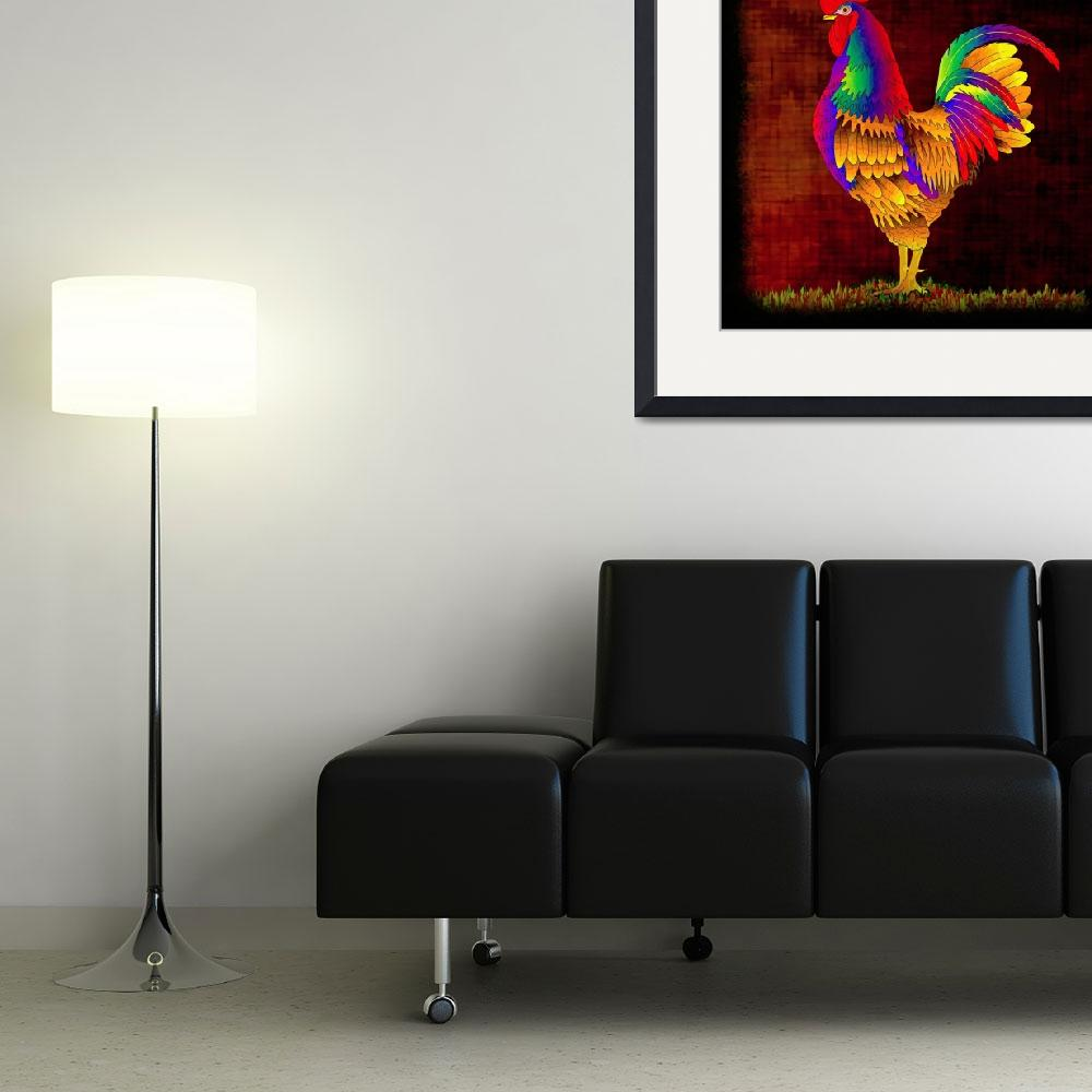 """Colorful Rooster (1)""  (2010) by myikpix"