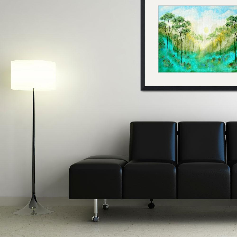 """""""Serenity From Original Painting&quot  (2007) by Itaya"""