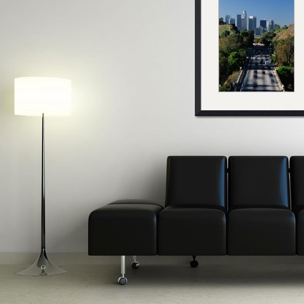 """""""Morning Rush Hour Traffic on Pasadena Freeway&quot  by Panoramic_Images"""