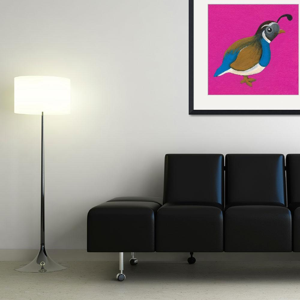 """""""Q Is For Quail&quot  (2010) by LibbyJohnston"""