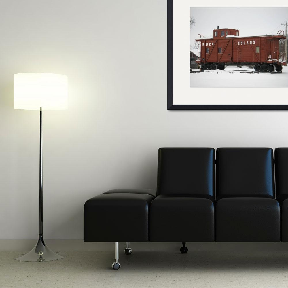 """""""Rock Island Caboose&quot  (2008) by pinkpastel"""