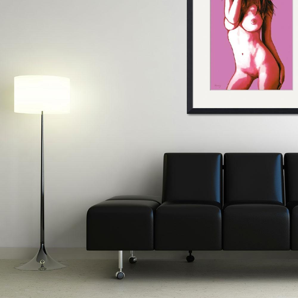 """""""Pop art nude etching poster""""  (2014) by visualharbour"""