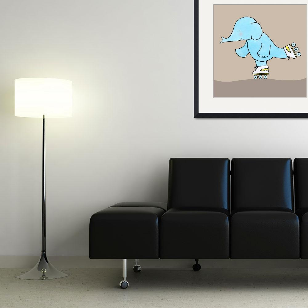 """Skating Elephant&quot  (2009) by zoe"