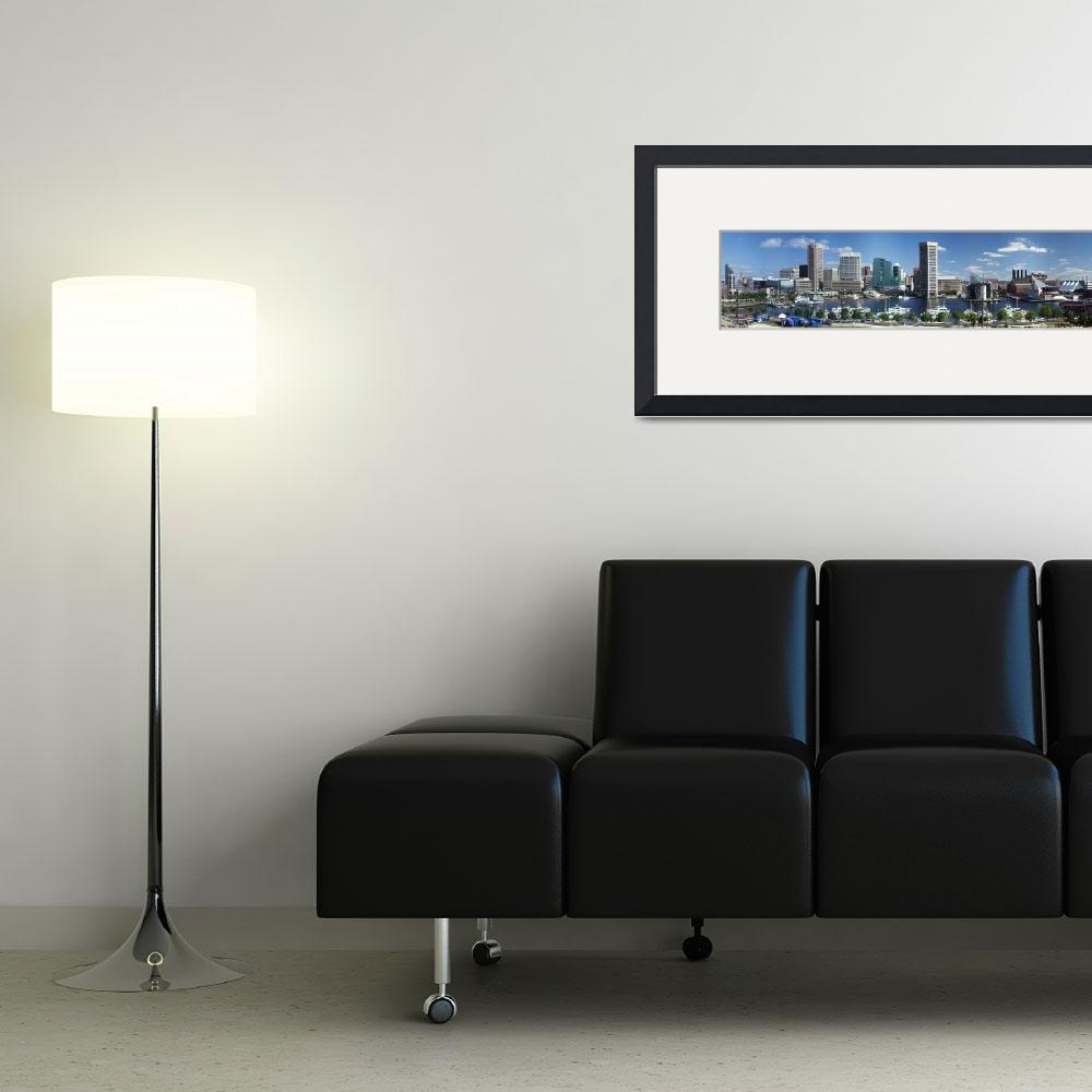 """""""Baltimore Inner Harbor Panorama Picture&quot  (2005) by travel"""