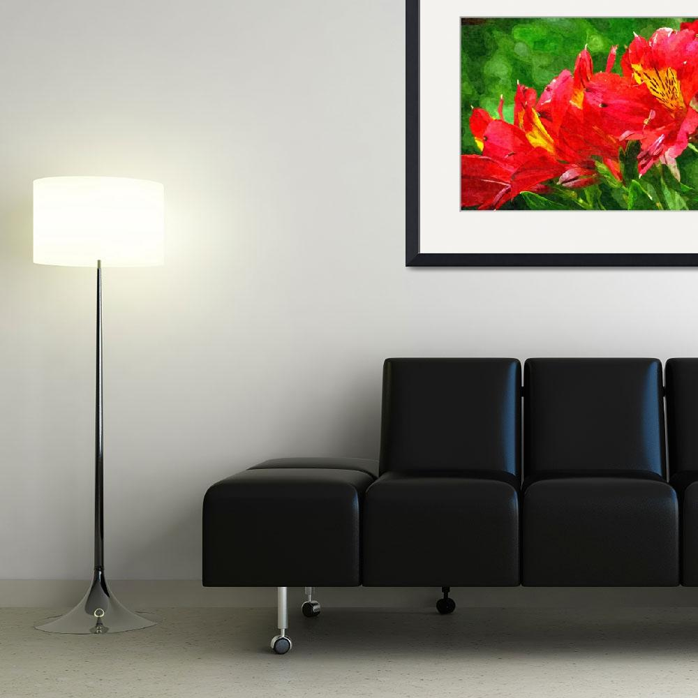 """""""Red flower&quot  (2014) by pixelez"""