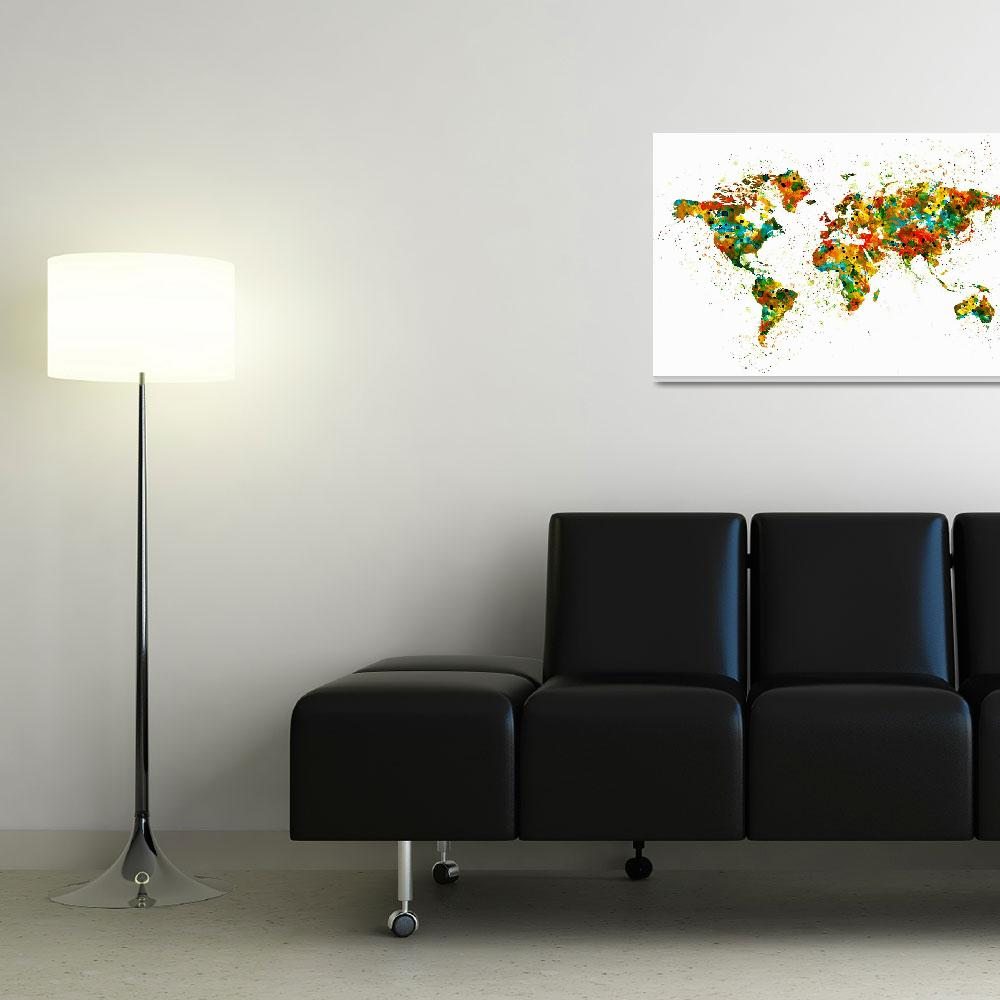 """Map of the World&quot  (2015) by MarianVoicu"