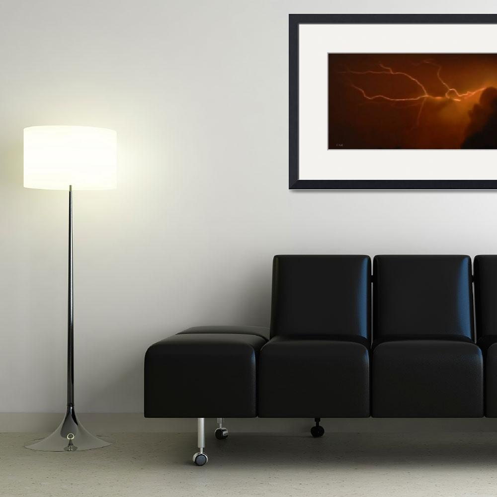 """""""LIGHTNING EMANATING FROM CLOUD&quot  (2008) by Mysticphotos"""