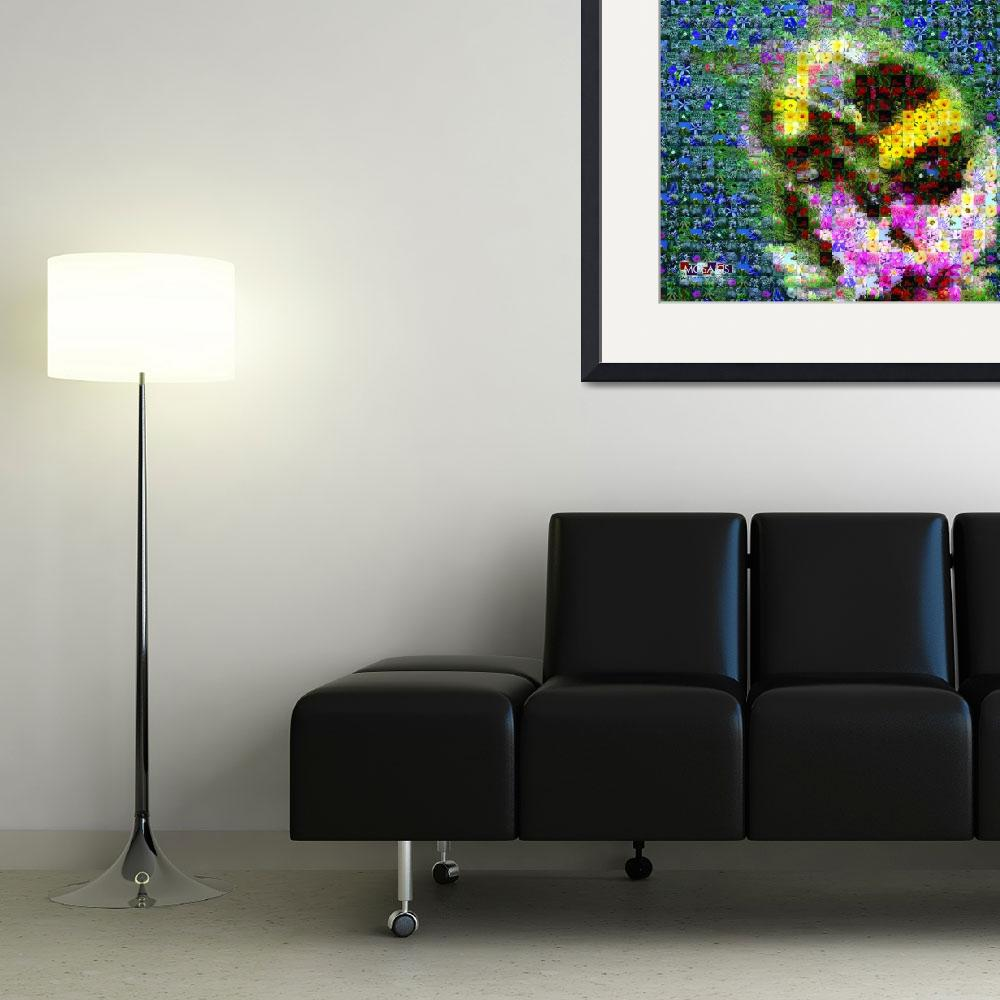 """""""Bee on Flower&quot  (2010) by mosaics2remember"""