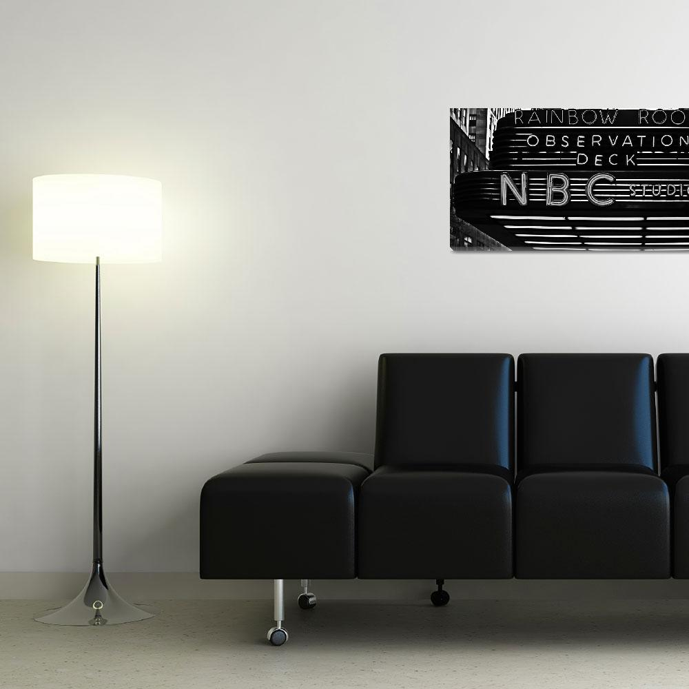"""""""NBC Studios Sign BW&quot  (2013) by Automotography"""