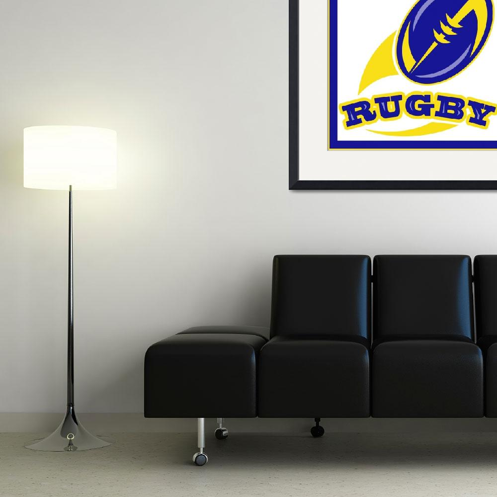 """""""rugby ball flying out&quot  (2013) by patrimonio"""