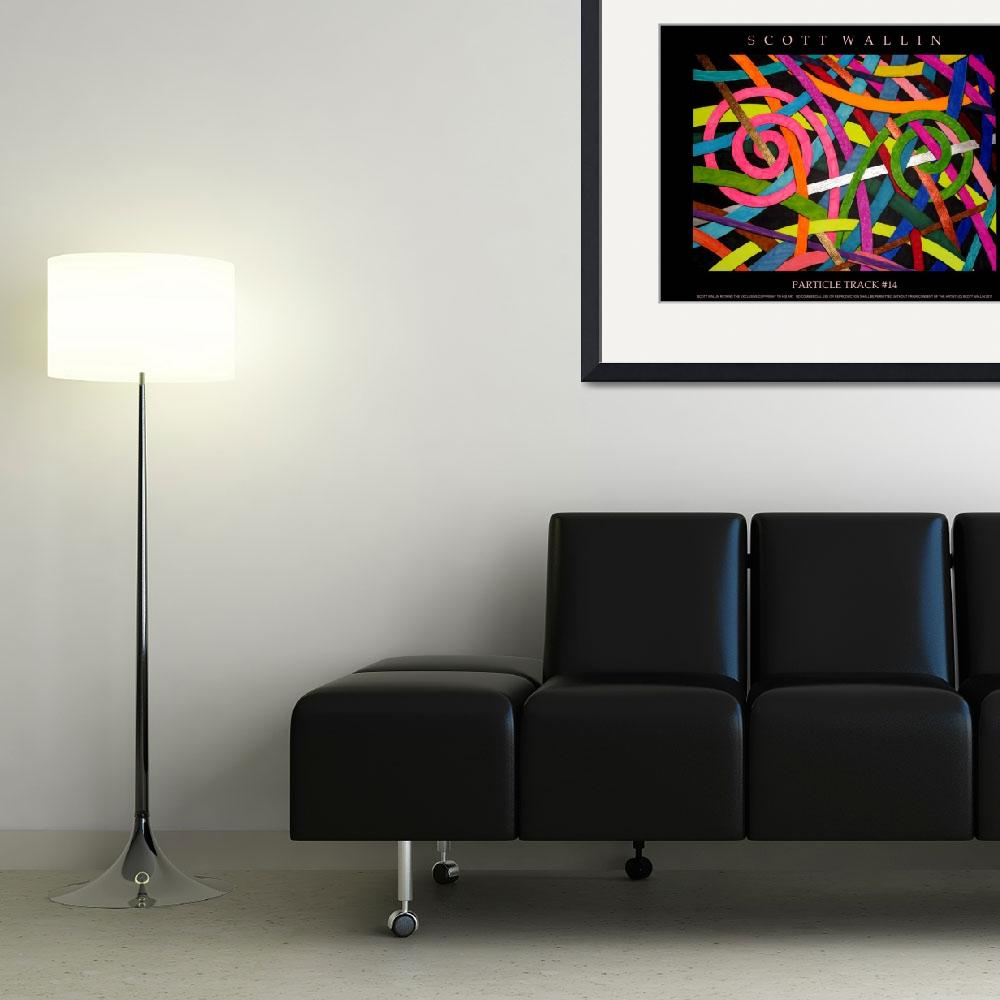 """""""Particle Track #14&quot  (2011) by SCOTTWALLINFINEARTS"""