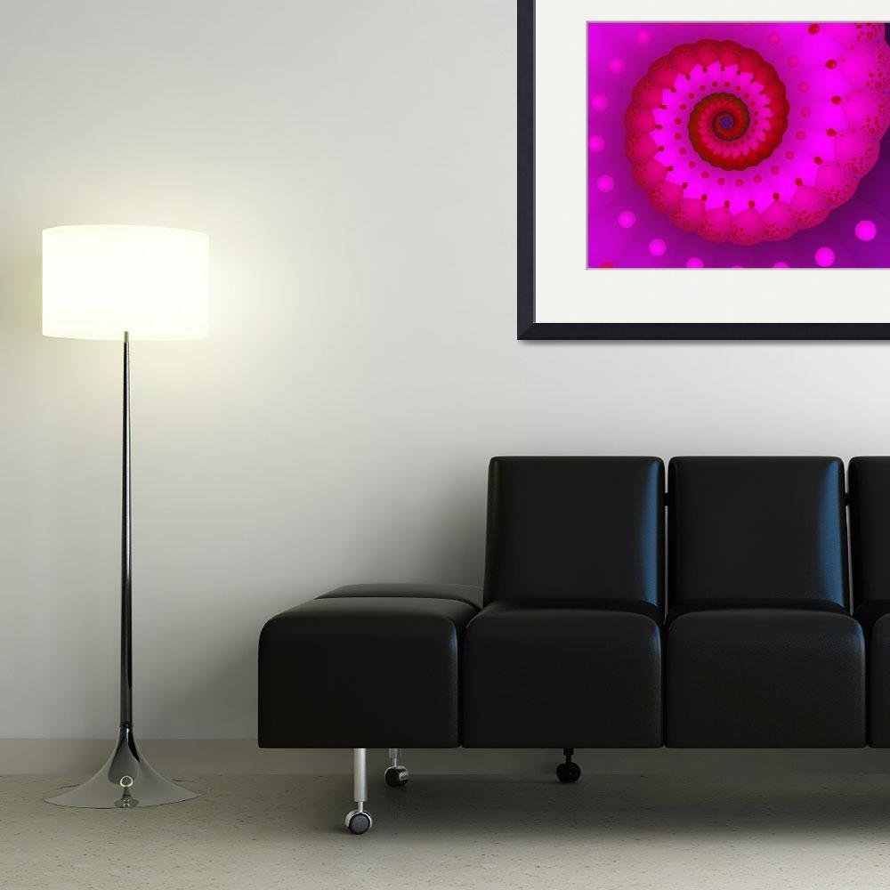 """""""Red and Pink&quot  (2005) by fractalartvicky"""
