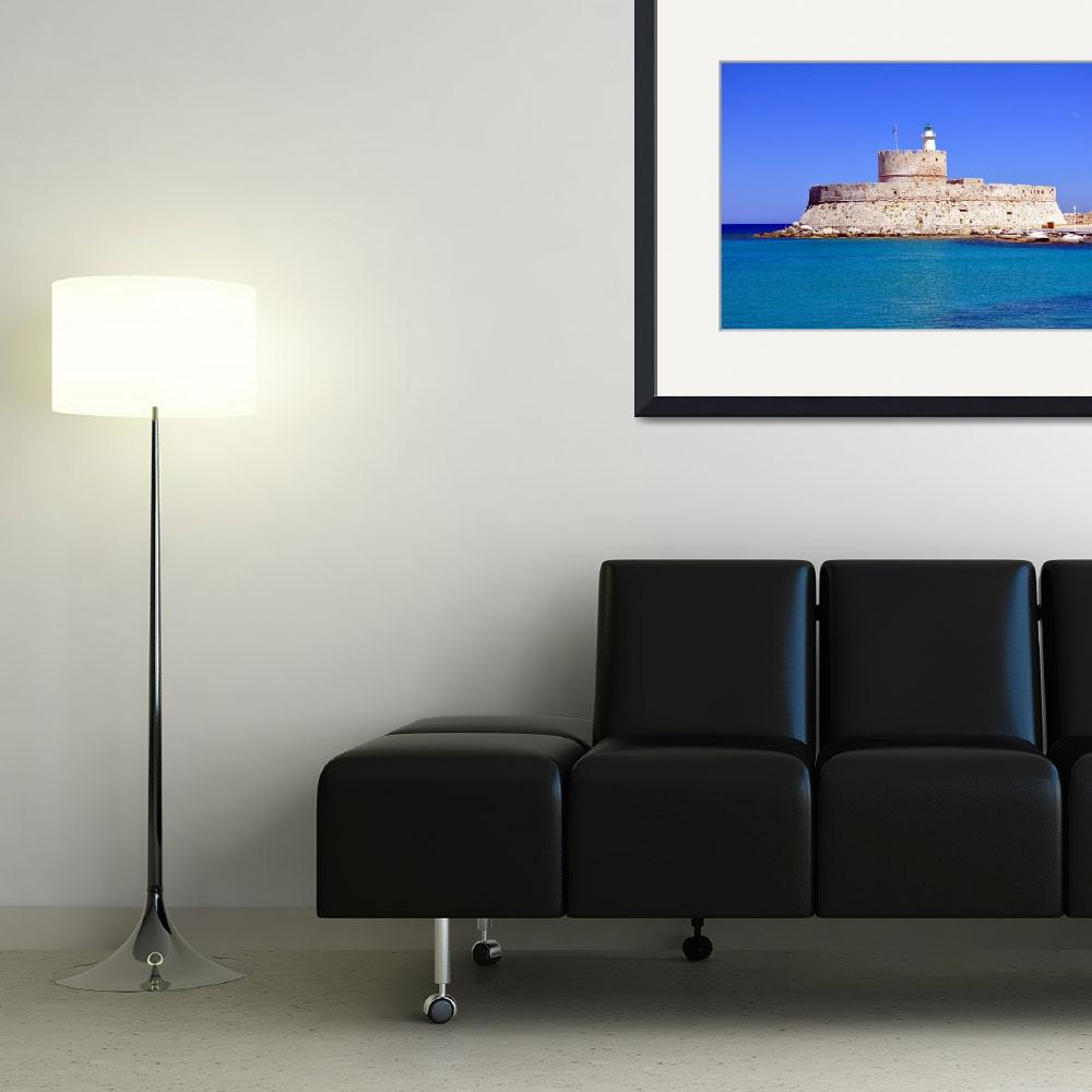 """Fort Saint Nicholas, Rhodes, Greece.&quot  (2009) by FernandoBarozza"